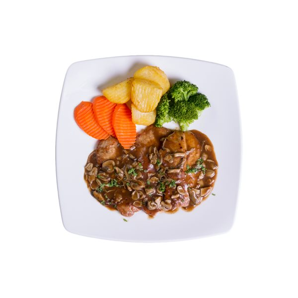 FEB - Scaloppine Di Maiale With Mushrooms